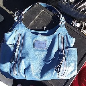 Blue Nicole Miller Hobo Bag